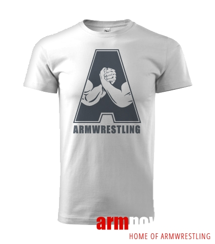 "Koszulka ARMWRESTLING  ""A"" unisex - biała"