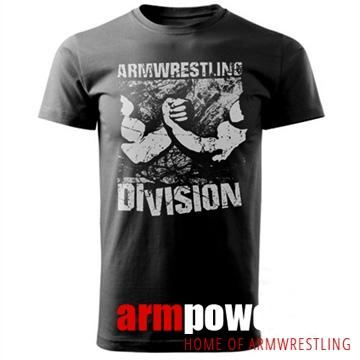 Koszulka ARMWRESTLING  DIVISION unisex - czarna