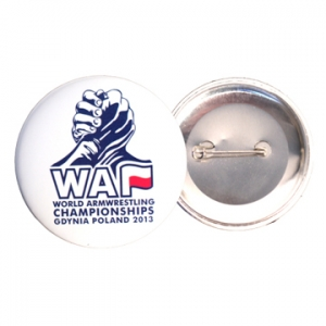 Przypinka – button WAF – World 2013