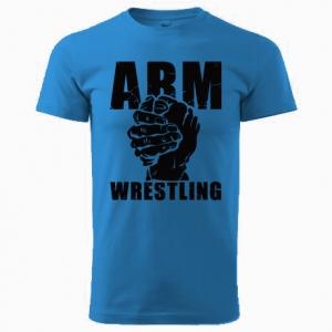 Koszulka ARMWRESTLING unisex - niebieska