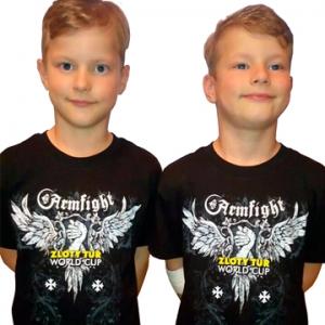 Koszulka ZLOTY TUR KIDS  unisex - czarna