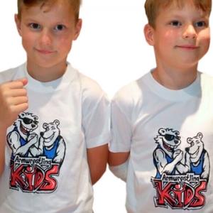 Koszulka ARMWRESTLING KIDS  unisex - biała
