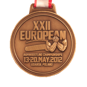 MEDAL - XXII European Armwrestling Championships 2012