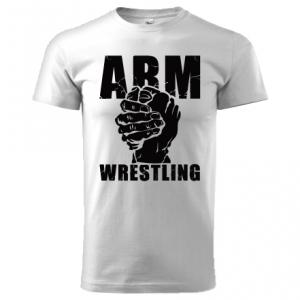 Koszulka ARMWRESTLING unisex - biała