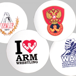 "Magnes ""I love"", ""Russian Team"", ""World 2013"" ,""WAF"" - zestaw 4 sztuki"