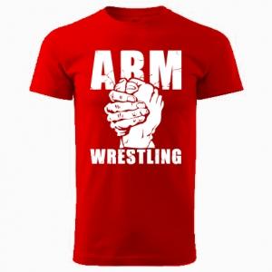 Koszulka ARMWRESTLING unisex - czerwona