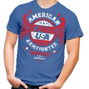 Koszulka  AMERICAN ARMFIGHTER unisex – niebieski