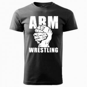 Koszulka ARMWRESTLING unisex - czarna