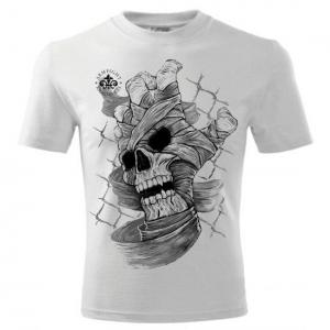 SKULL HAND ARMFIGHT T-Shirt (unisex) - biała