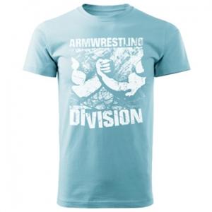 Koszulka ARMWRESTLING  DIVISION unisex - błekitna