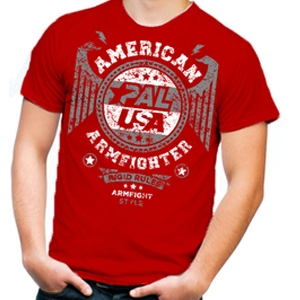 Koszulka  AMERICAN ARMFIGHTER unisex – czerwony