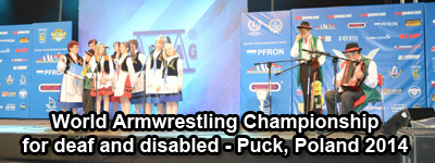 World Armwrestling Championship for Deaf and Disabled 2014, Puck, Poland
