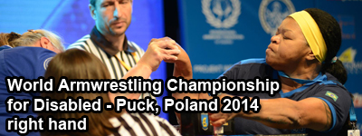 World Armwrestling Championship for Disabled 2014, Puck, Poland - right hand