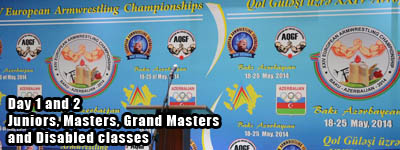 European Armwrestling Championships 2014