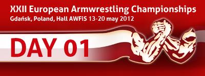 XXII European Armwrestling Championships - Day 1